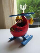 🍓 Playmobil 123 Pompier Avec Hélicoptère 6789 Complet