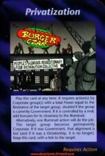 Illuminati New World Order - Privatization / Unlimited INWO CCG