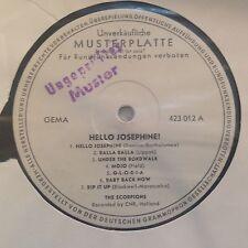 LP SCORPIONS(DUTCH BEAT)  *Hello,Josephine* POLYDOR MUSTERPLATTE/PROMO