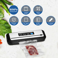 More details for dry moist vacuum sealer automatic sealing machine with cutter bag roll hose 230v
