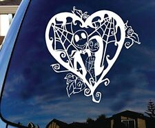 "Jack Sally - Nightmare Before Christmas, valentine day vinyl decal 6"" White"