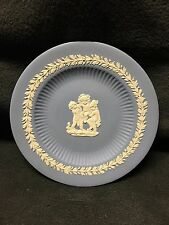 Wedgwood Jasperware - Blue Plate with Three Children and ornate border -Mint