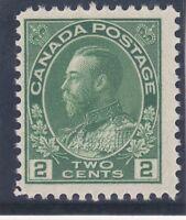 Canada 107 MNH OG 1922 2c Yellow Green KG V Cv $65.00