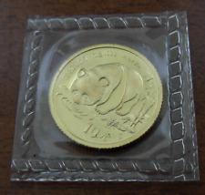 China 1987S Gold 1/10 oz Panda 10 Yuan Original Mint Sealed BU