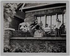 OLD PHOTO MEN PLAYING INSTRUMENTS GUITAR BANJO SAXOPHONE DRUMS ACCORDION 1930S