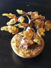Baltic Amber decorative Tree of Happiness Bonsai 12 cm New