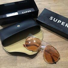 SUPER - Leon Tan Leather Sunglasses - Glass lens ** NEW in box****