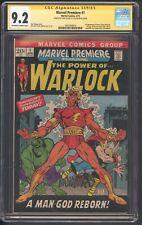 Marvel Premiere Cgc 9.2 SS lee 1st of him as Warlock 1st of Soul Gem Hulk Thor
