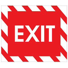 "EXIT SIGN sticker 6"" x 5"""