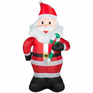 NEW Santa Claus Candy Cane 4' Christmas Airblown Inflatable Holiday Yard Decor
