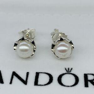 New pandora Cultured Elegance White Pearl Stud Earrings