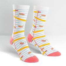 Pencil Me In Trouser Crew Socks New Women's Size 9-11 Sock It To Me Fashion