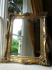 Fabulously ornate HUGE Extra Large opulant Gold Rococo Wall hall leaner mirror c