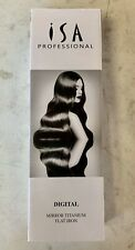 New Titanium Flat Iron Digital Hair Straightener Curler ISA Professional