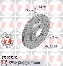 Disque de frein avant ZIMMERMANN PERCE 370.3072.52 MAZDA 323 F VI BJ 2.0 131ch