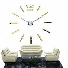large mirror sticker wall clock modern design 3D DIY wall clock watch Home decor