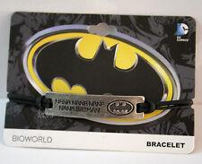 NEW DC Comics Batman NANA NANA NANA ID Name Plate Pendant Black Cord Bracelet