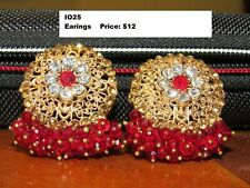 Indian/Pakistani Traditional Earring With Ruby Style - Wedding & Party Wear