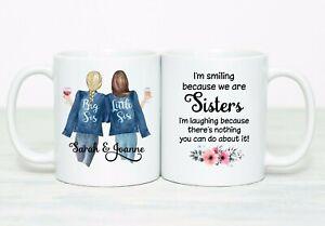 Personalised sister mug cup girls big sister little sister gift birthday love