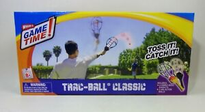 Wham-O Game Time! Trac Ball Racket Game Classic Toss and Catch Outdoor Toy