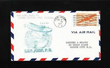 San Juan Puerto Rico 1st Flight To Lagos Nigeria 1941 50c Transport Cover 5t