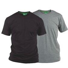 D555 Big Mens Fenton T-Shirt Twin Pack Black Grey 2XL,3XL,4XL,5XL,6XL,7XL,8XL
