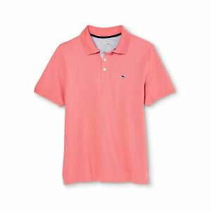 Vineyard Vines Target Boys Red Polo Shirt Pink Cotton Summer Top Size XS 4/5 NEW