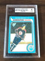 1979 O-PEE-CHEE NHL HOCKEY #18 WAYNE GRETZKY ROOKIE KSA 4 VGEX NICE CARD!