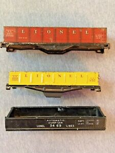 Lionel Metal Freight Car Shells - Set of 3 for Parts ~ TS