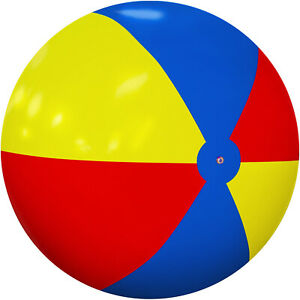 8Ft Inflatable Beach Ball Giant Foot Ball Waterproof Large Pool Outdoor Toys