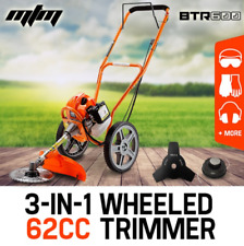 62cc 3in1 Wheeled Brush Cutter Trimmer Whipper Snipper 2-Stroke Saw blade