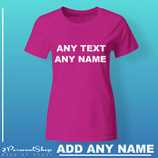 Personalised Women T shirt Custom Text Any Name Printed Women Stag do Hen Party