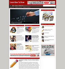LEARN HOW TO DRAW BLOG / UK AFFILIATE WEBSITE WITH STORE & BANNERS + HOSTING