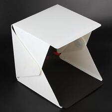 """Portable Mini Photo Studio 9"""" Photography Lighting Tent Kit Backdrop Cube Box"""