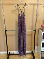 NEW Cute Women Woven Printed Pullover Maxi Socialite Dress Size XL