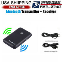 Bluetooth 4.2 Transmitter and Receiver 2-in-1 Wireless Audio Aux 3.5mm Adapter