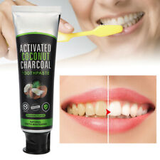 Natural Organic Activated Charcoal Teeth Whitening Powder Coconut Toothpaste