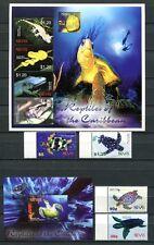 Nevis 2005 Amphibien Reptilien Schildkröten Reptiles 2036-43 + Block 249 MNH
