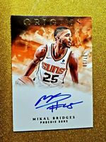 2018-19 PANINI ORIGINS MIKAL BRIDGES ROOKIE AUTOGRAPH ON CARD AUTO RC GOLD /10