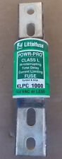 Littelfuse POWR-PRO KLPC 1000A 600V Class L Hi-Interrupting Time Delay Fuse Used