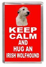 "Irish Wolfhound Dog Fridge Magnet ""KEEP CALM AND HUG AN ......"" by Starprint"