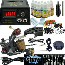 Beginner Tattoo Machine Gun Kit One Motor Power Supply Pigment Ink Set Power