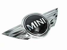 Genuine New MINI FRONT BADGE Bonnet Logo R50 2000-2006 R52 2002-2008 Cooper One