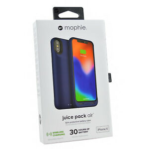 Mophie Juice Wireless External Battery Charging Case Cover For iPhone X & XS