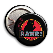 Black Cat (RAWR!) - Button Badge - 25mm 1 inch