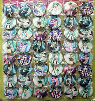 Hatsune Miku 4.3CM 40x LOT PIN back BADGE BUTTON NEW FOR BAG CLOTH anime