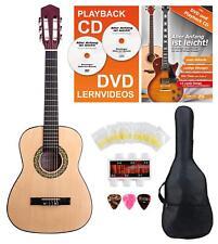 1/2 Linkshänder Akustikgitarre Kinder Anfänger Konzertgitarre Starter Set Lernen