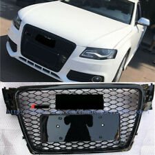 Audi A4 S4 B8 2009-2012 RS Style Euro Honeycomb Hex Mesh Gloss Black Grill