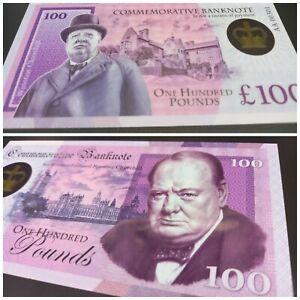 SALE!!! £100 Winston Churchill UK POLYMER Test Private Fantasy banknote