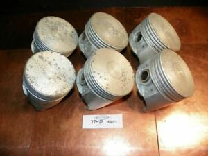 NOS 1961-1965 Ford 6 Cyl Comet Falcon Mustang Piston Set W/ Pins 724P +.060